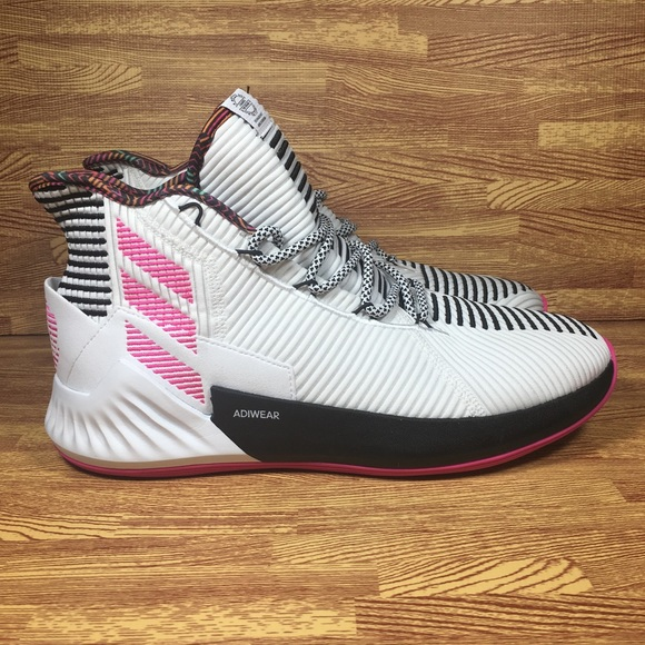 separation shoes 28b31 6a728 adidas Other - Adidas D Rose 9 Basketball Shoes White Pink Men 10